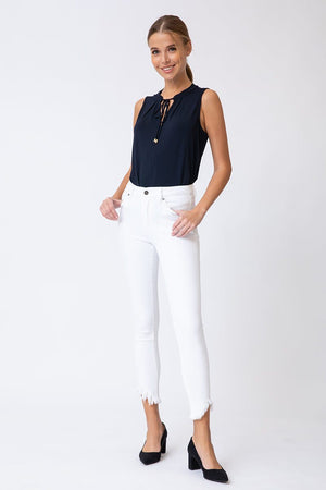 HIGH RISE SUPER SKINNY WHITE