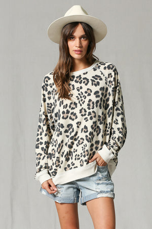 BROWN LEOPARD TOP