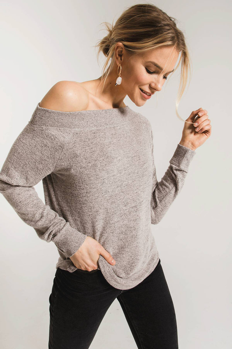 MARLED ONE SHOULDER TOP