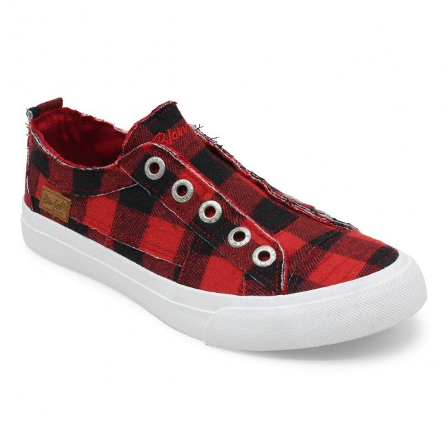 PLAY SNEAKER RED BUFFALO CHECK