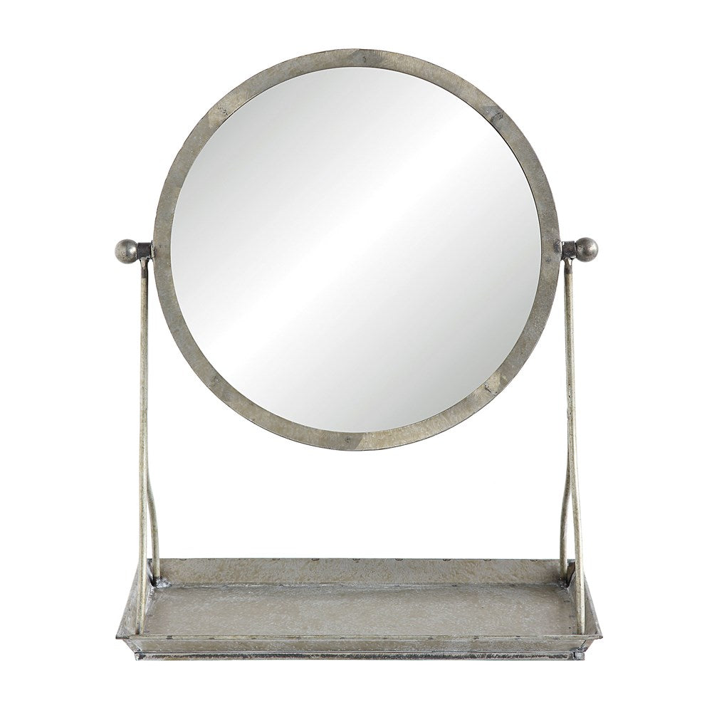METAL MIRROR W/TRAY