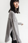 GREY TRIBLEND VACAY PULLOVER