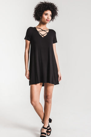 THE CROSS FRONT TEE DRESS
