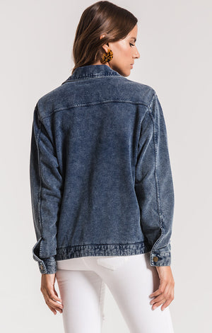 THE KNIT DENIM JACKET