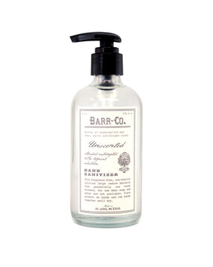 BARR CO. UNSCENTED HAND SANITIZER