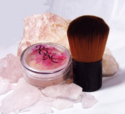 Large Foundation with Large Vegan Brush Kit Pink Quartz Minerals Mineral Makeup Foundation