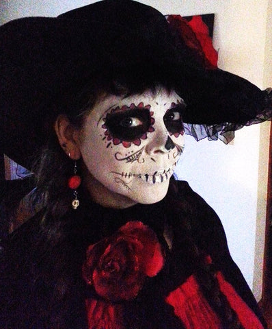 Stage and Halloween Makeup White Base Plus One Color Safe for Kids Face Paint