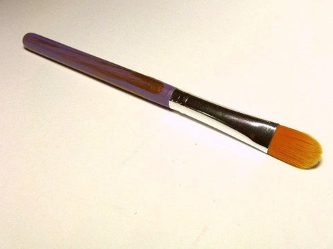 Concealer Brush Vegan for Mineral Makeup Application Hand Painted