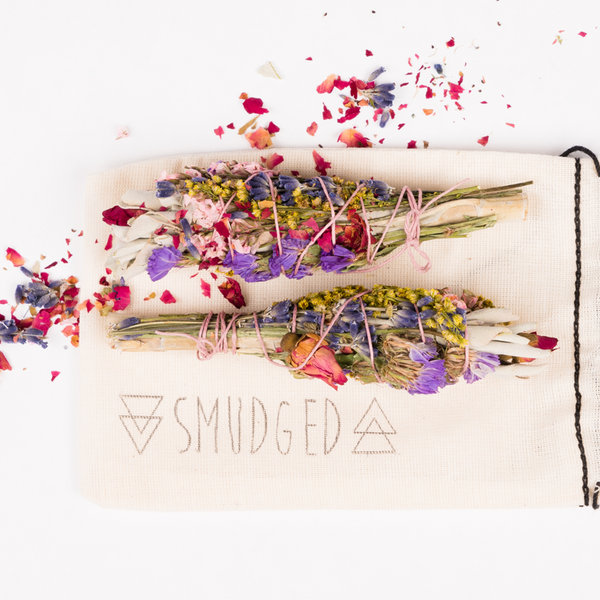 The Lovers - Sage Bundle With Flowers