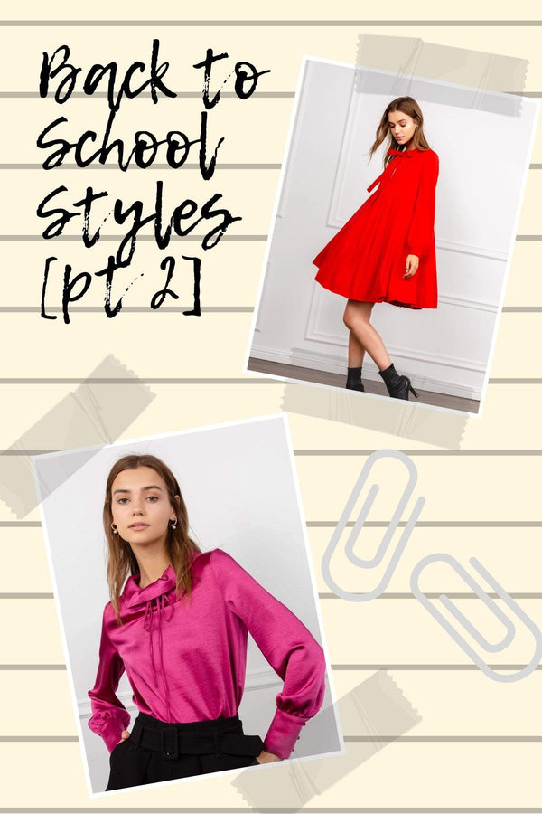 Back to school stylish fashion clothes for girls by J.ING