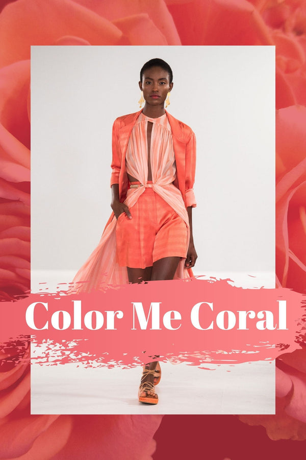 Corals are IN this summer and J.ING shows you how to wear it