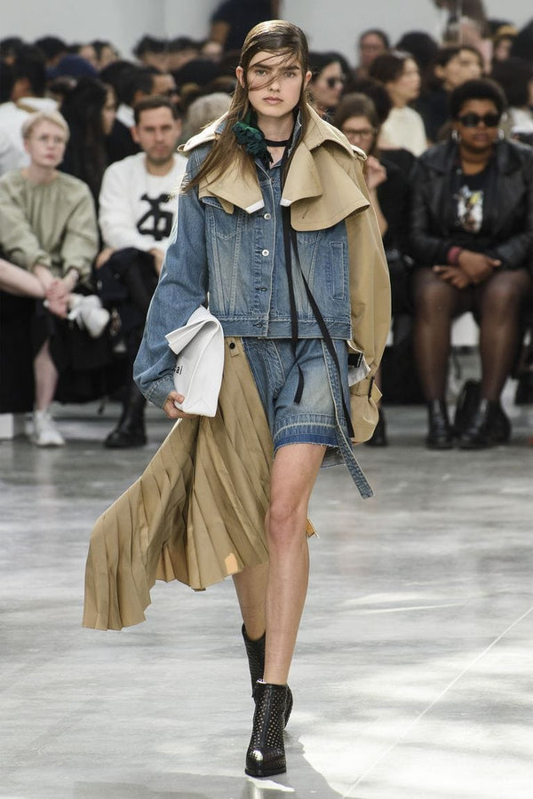 Denim by Sacai on the runway for J.ING's Denim Dynasty blog post
