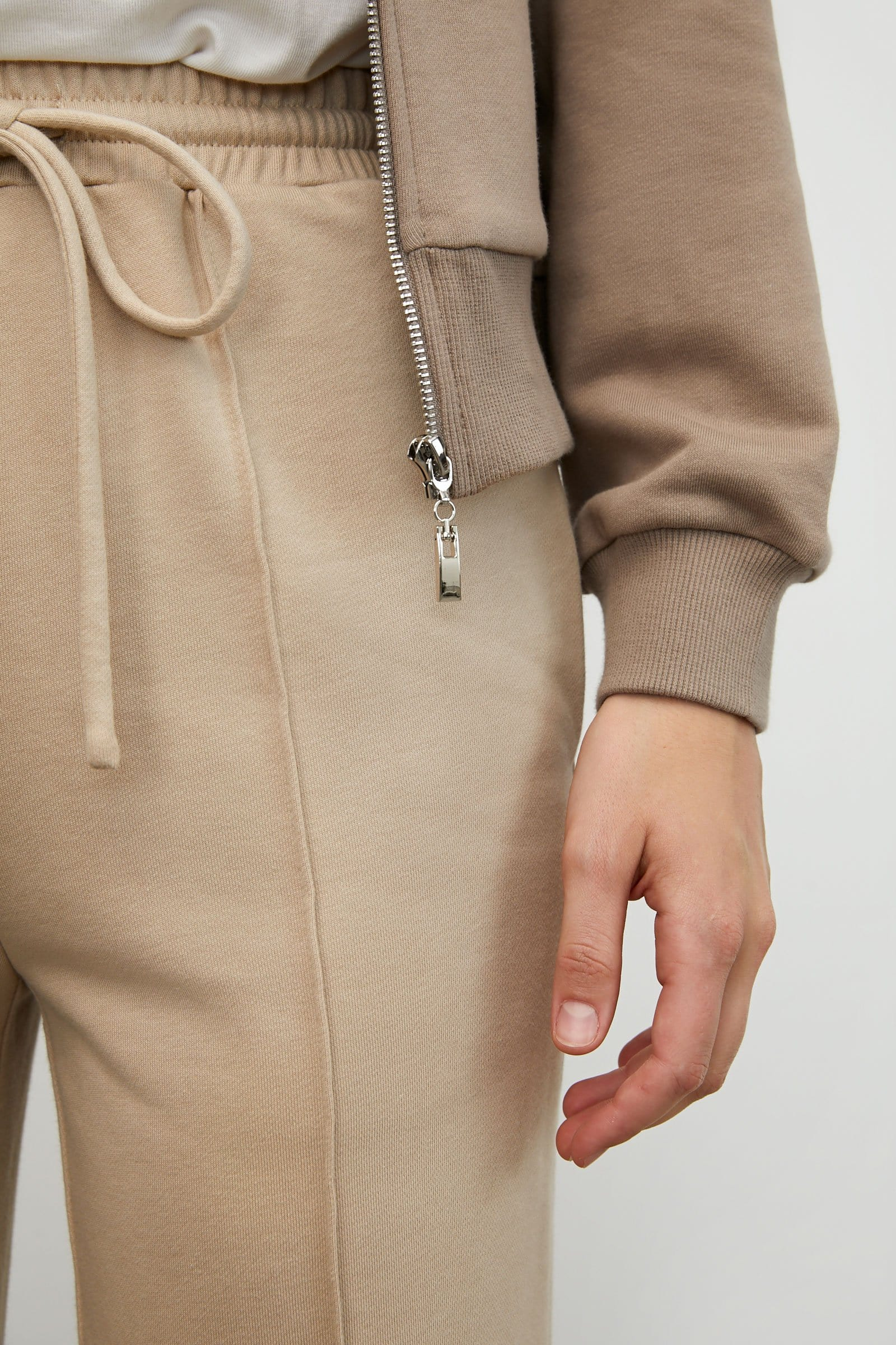 Cozy Brown Zip-Up Hoodie