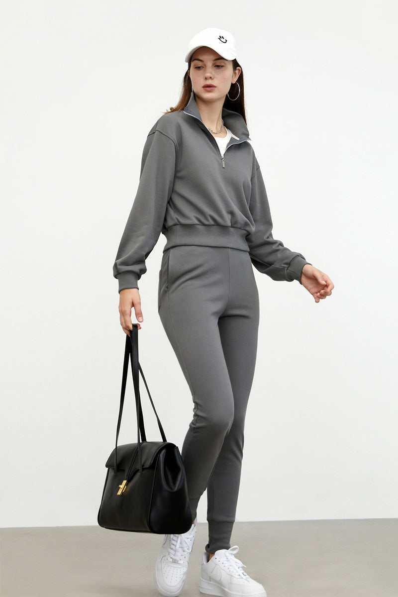 Cozy Grey Slim Sweatpants