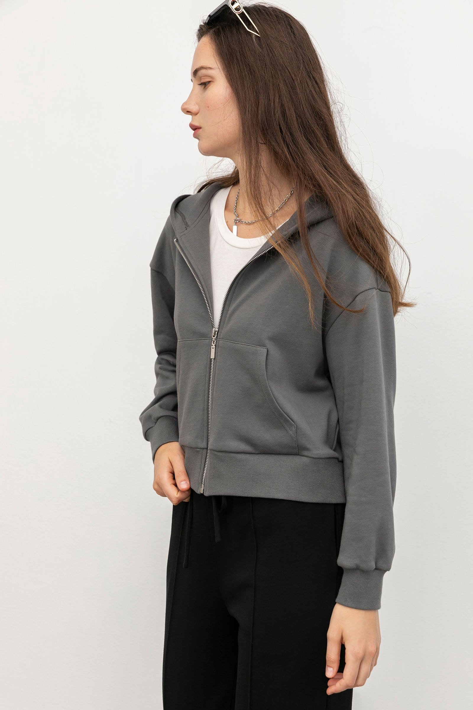 Cozy Grey Zip-up Hoodie
