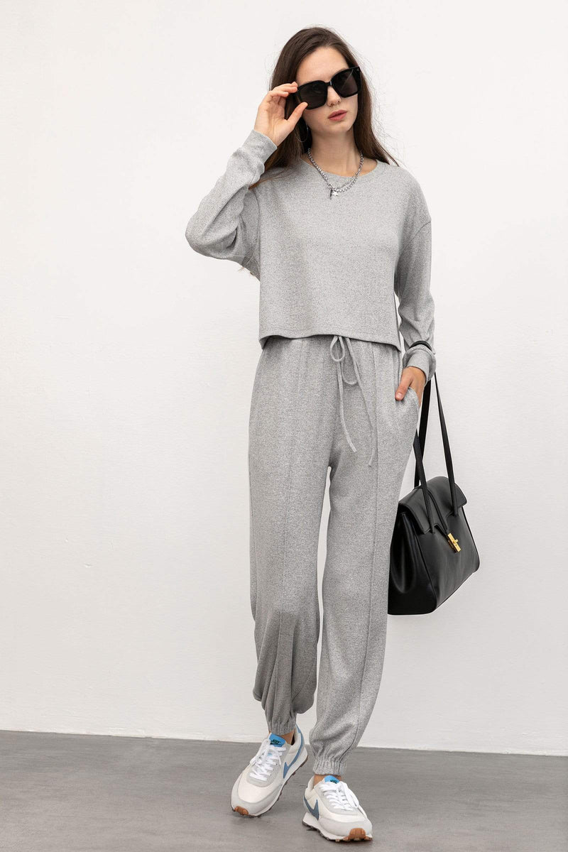 Cozy Grey Drawstring Sweatpants