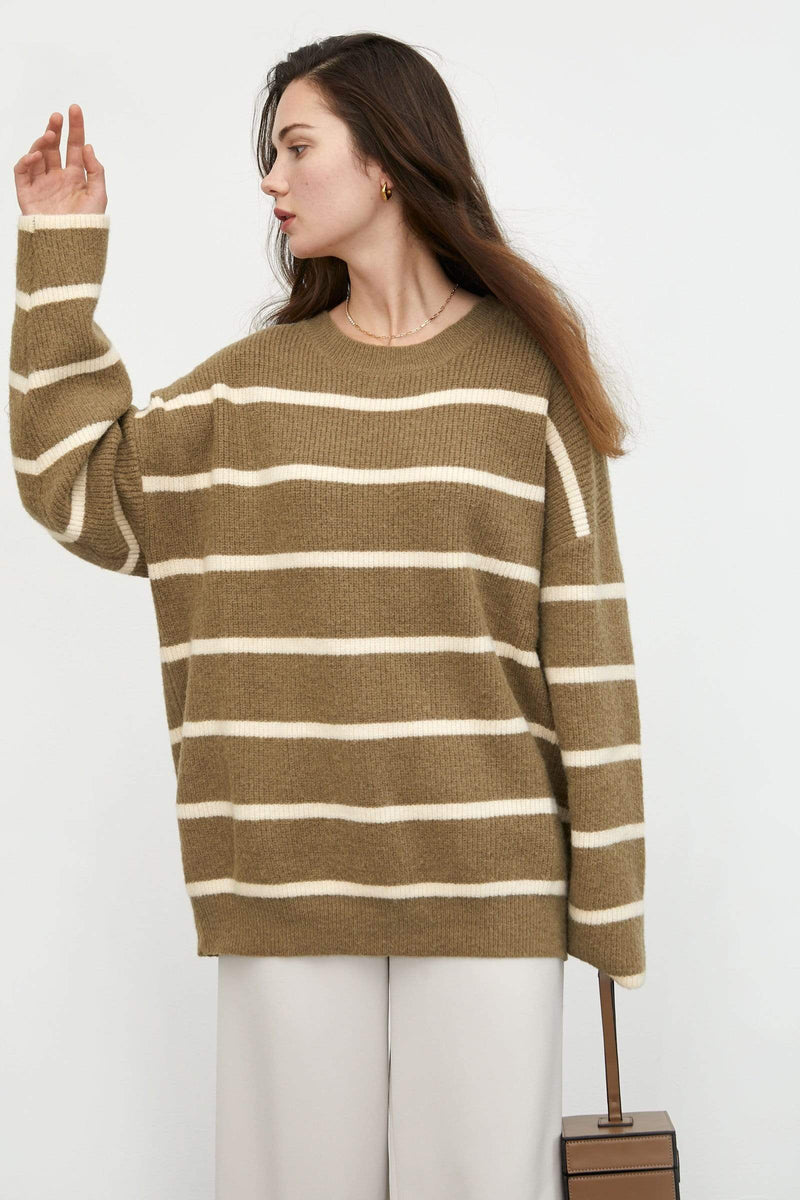 Alex Tan Striped Sweater