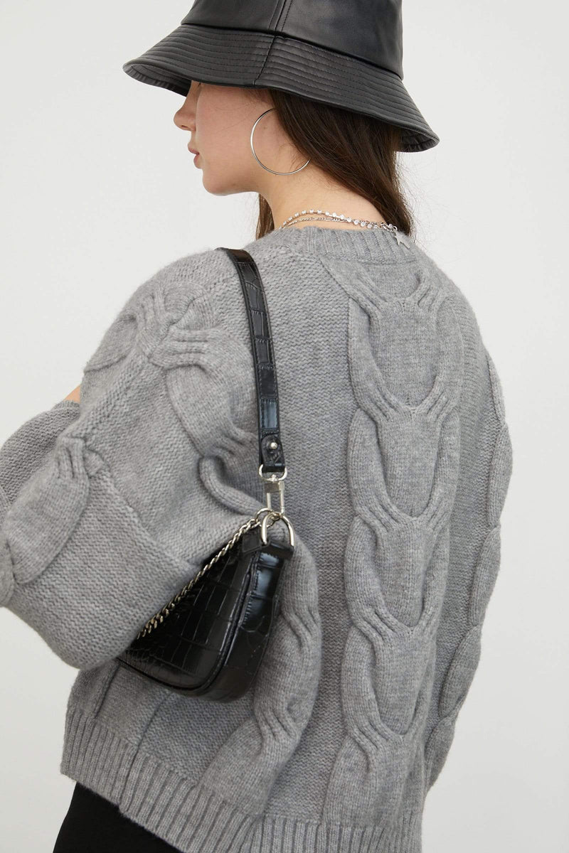 Twist Grey Chunky Sweater