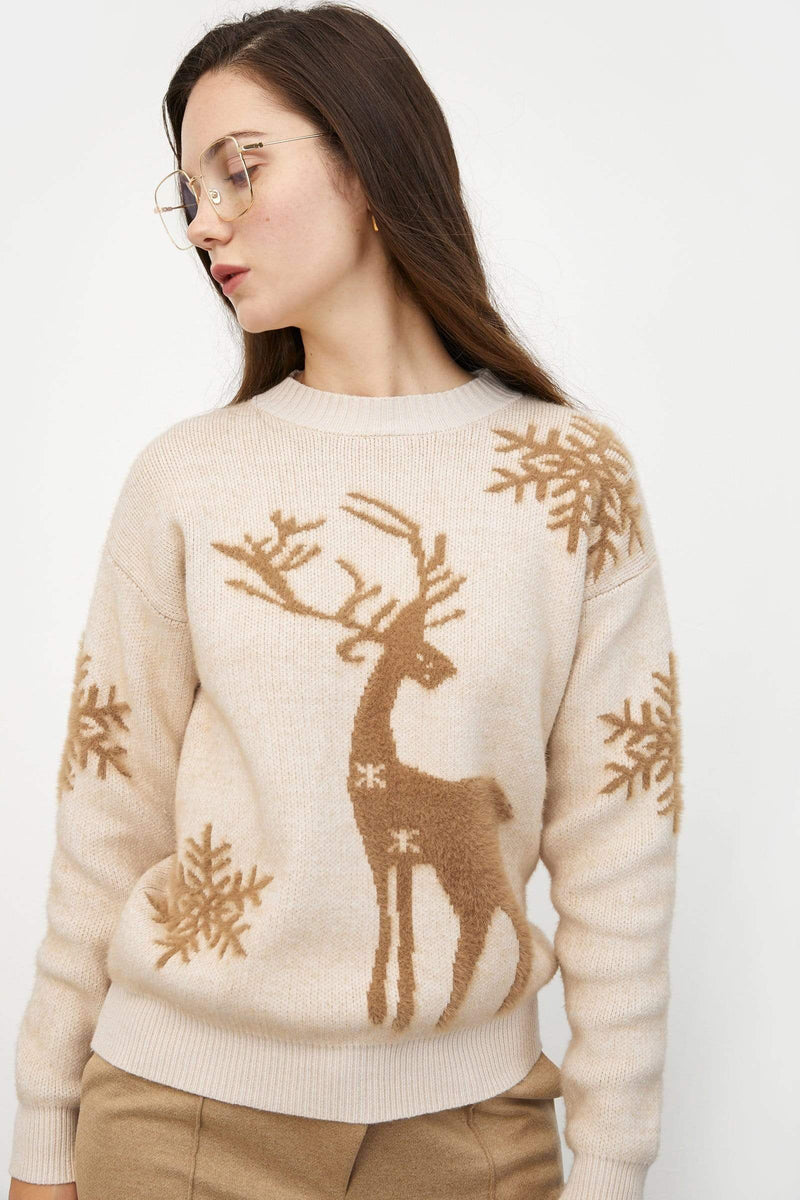 Holiday Buddy Almond Sweater