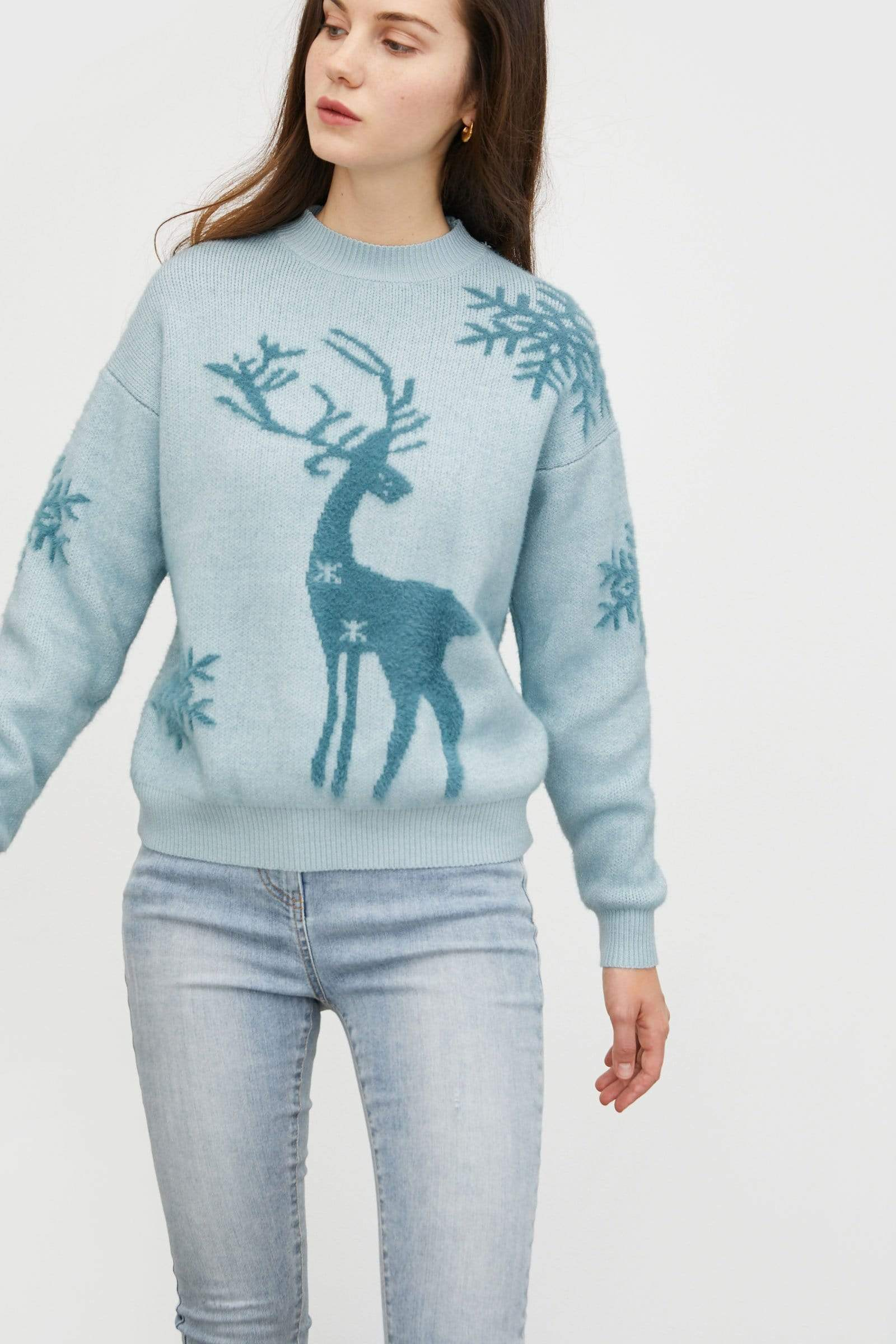Holiday Buddy Periwinkle Sweater