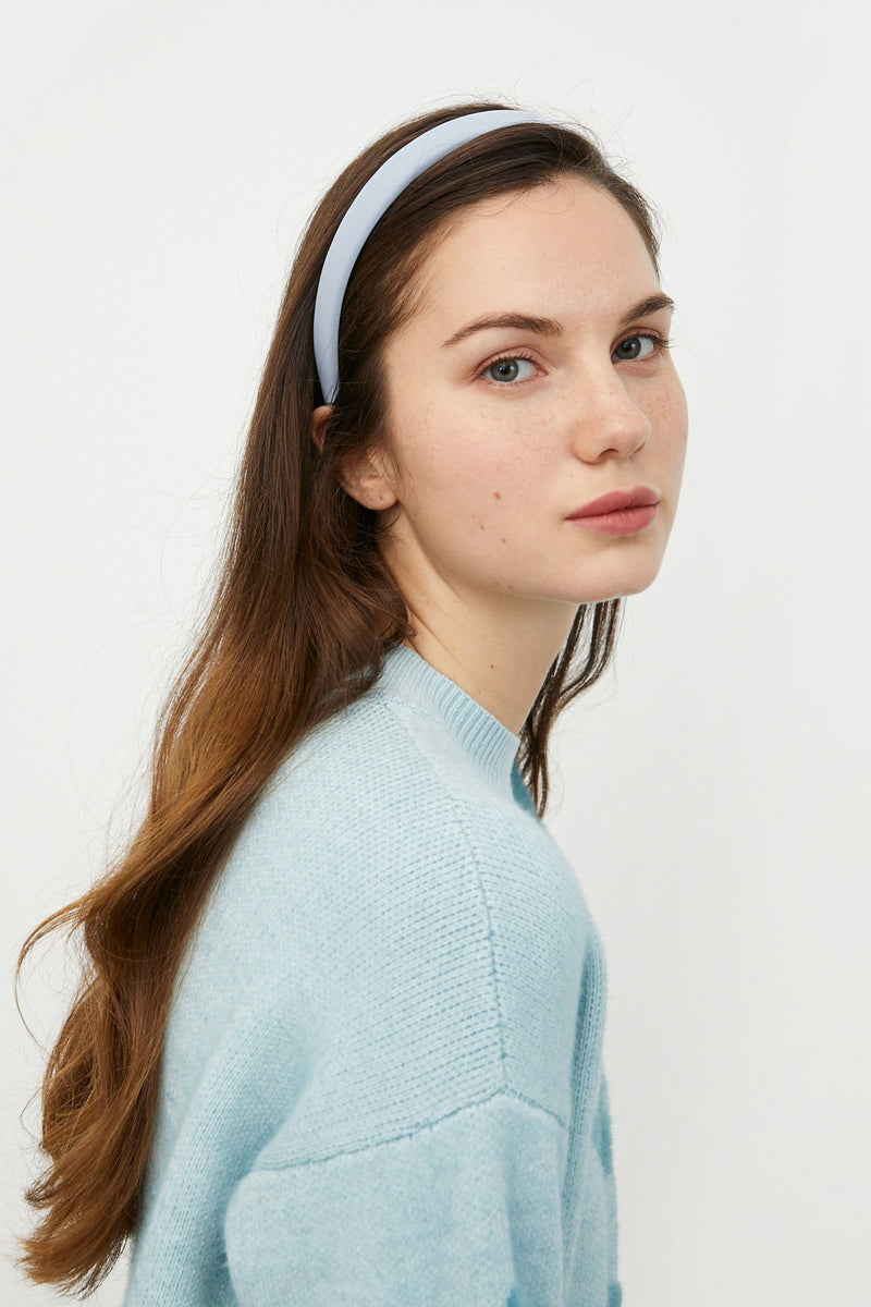 Satin Periwinkle Headband