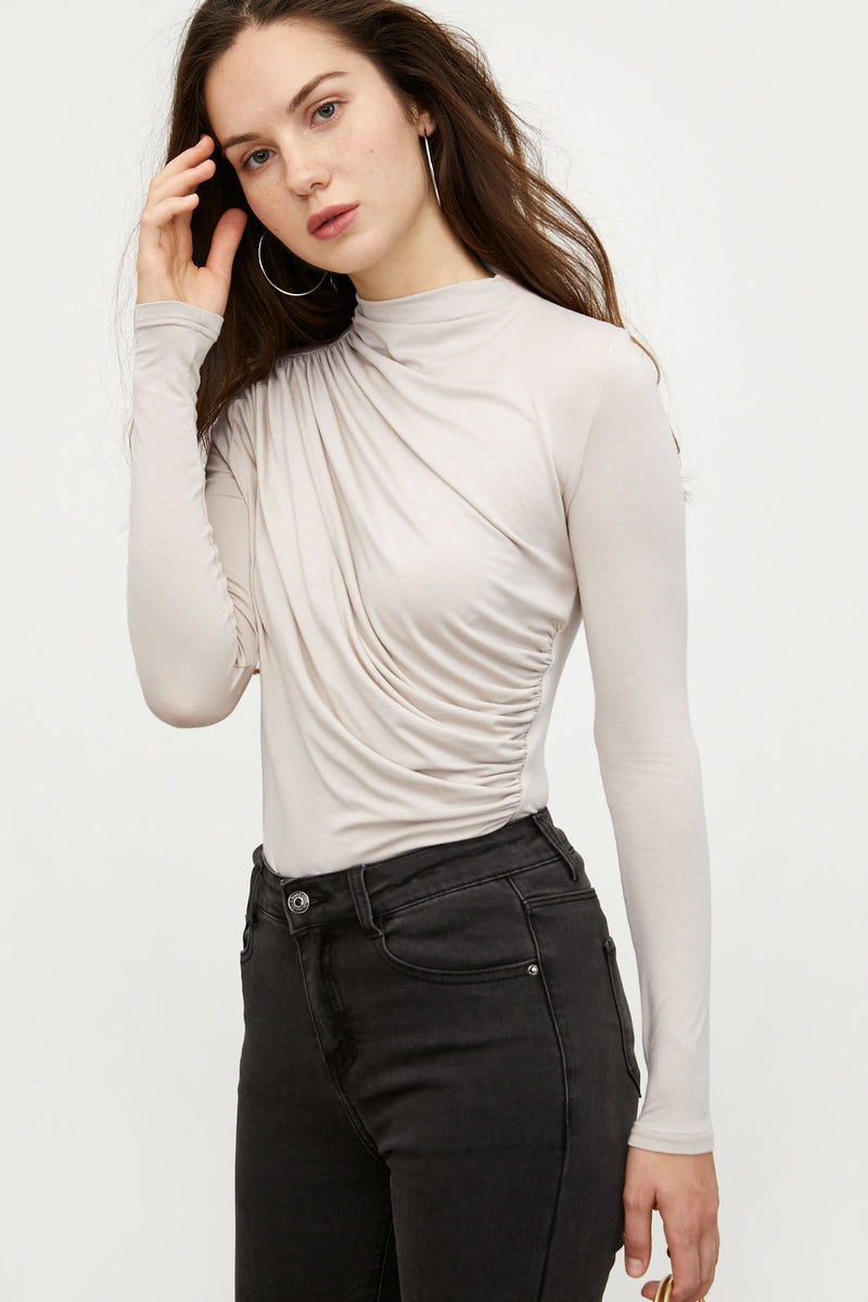 Twisted White Long Sleeve Tee