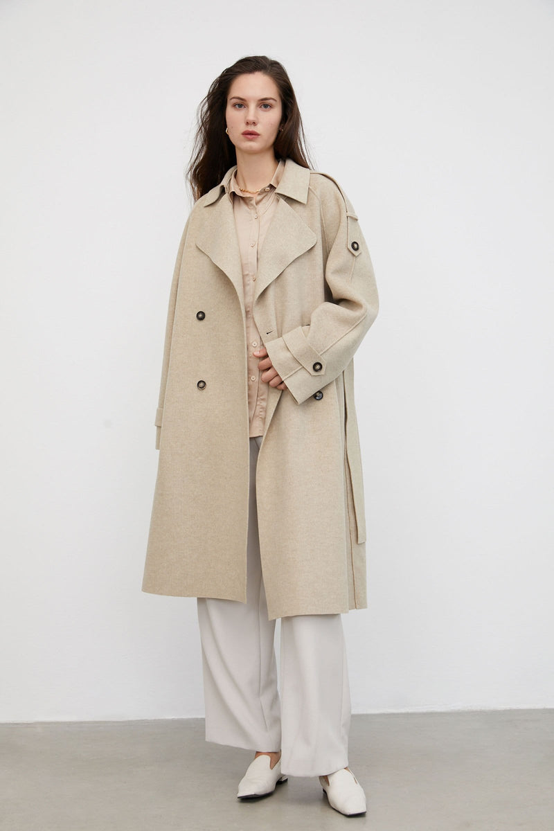 Flowy Light Tan Trench