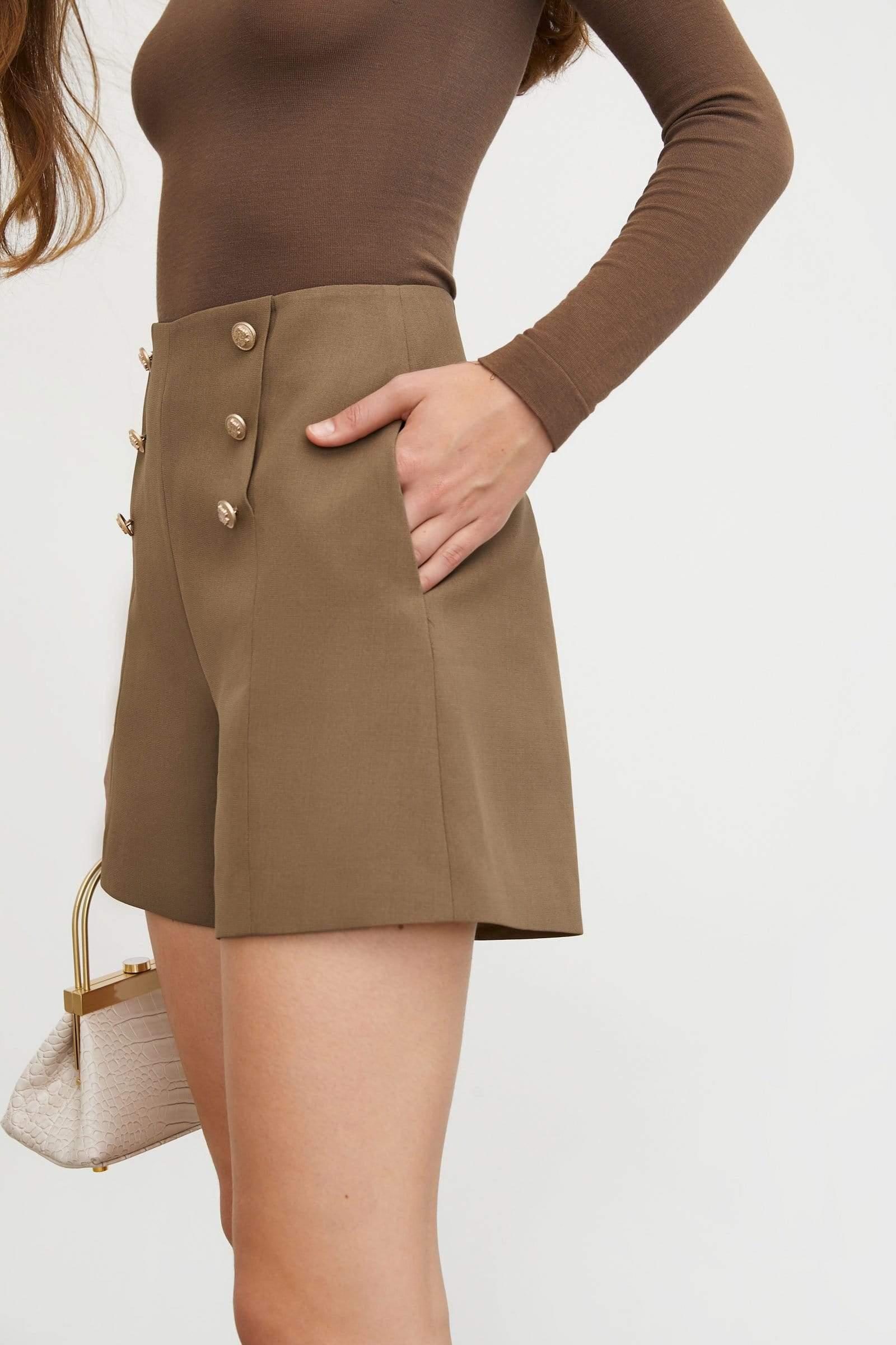 Adele Button Tap Shorts
