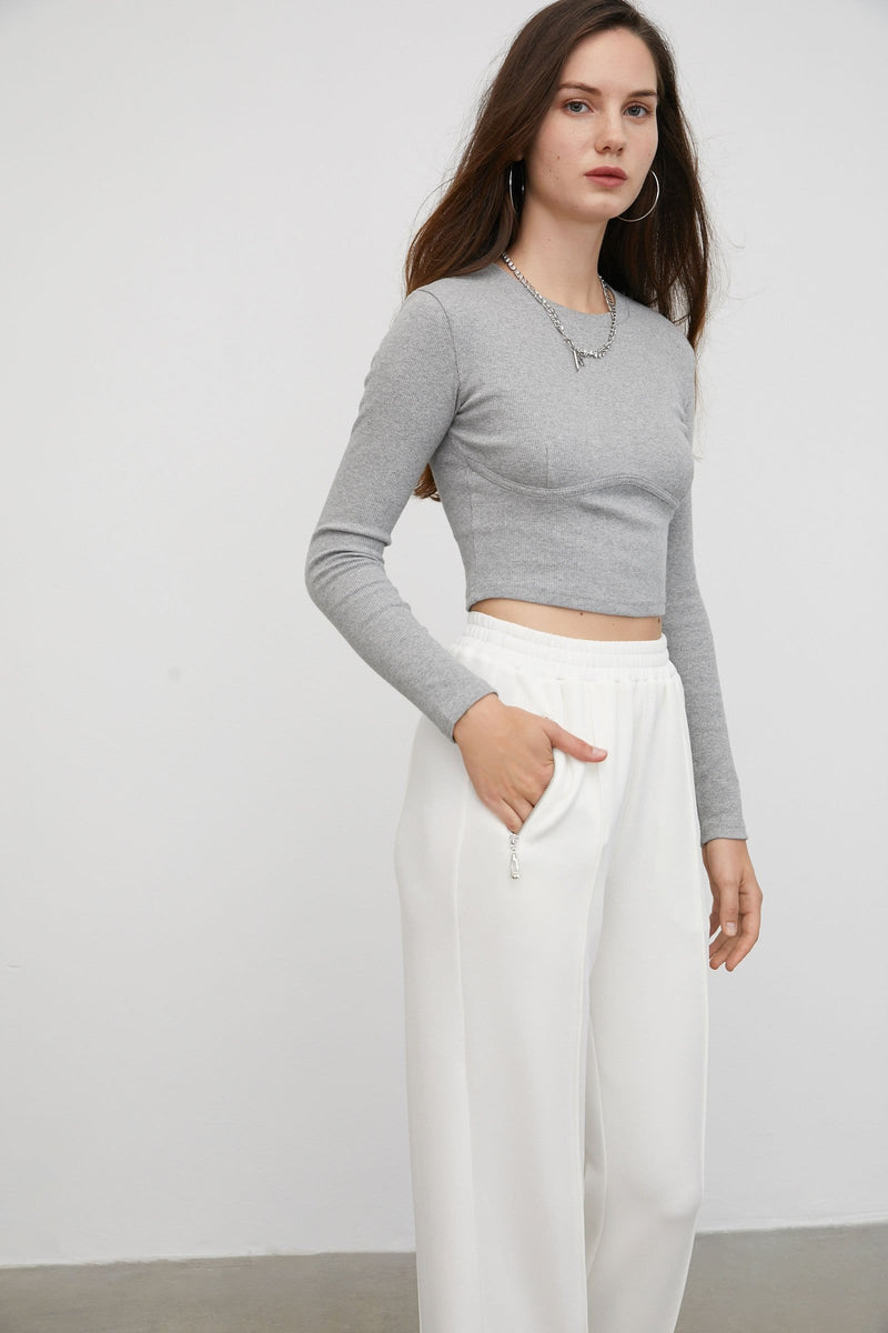 Cozy White Wide Joggers