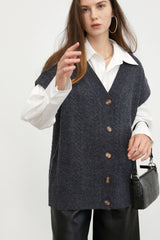 Grey Cable Knit Sweater Vest