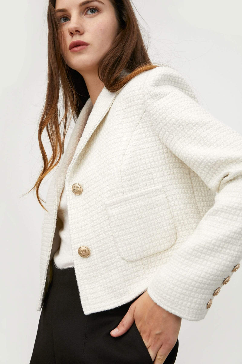 Thelma Tweed Cropped Coat