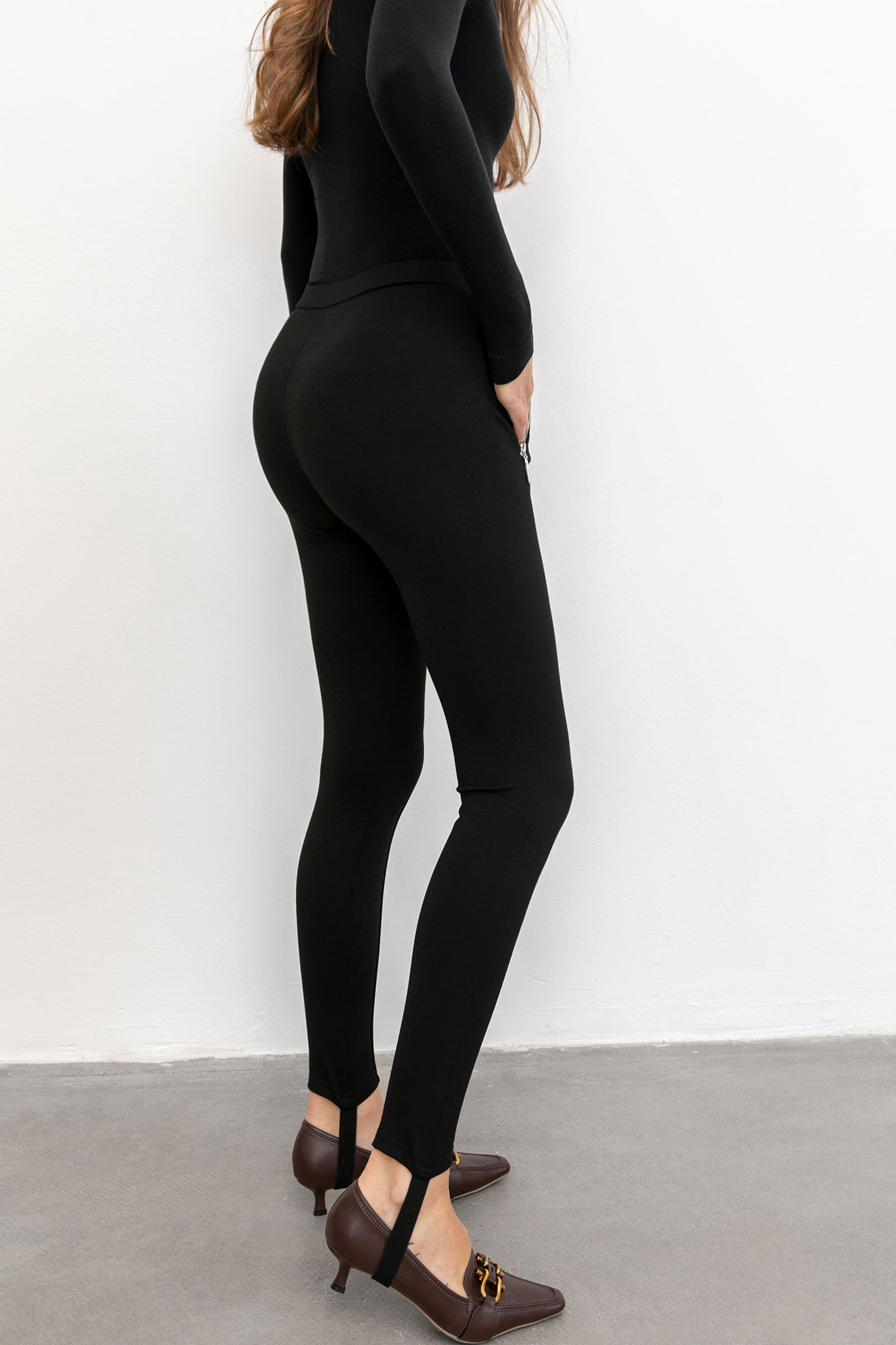 Essential Black Side Zip Trousers