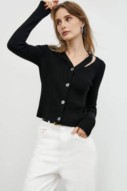 Black Button-Up Cardigan