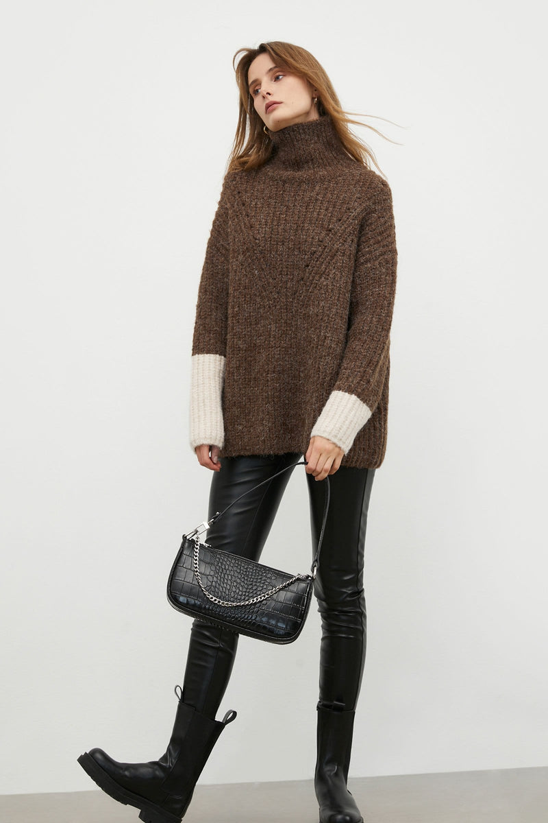 Frankie Brown Turtleneck Sweater