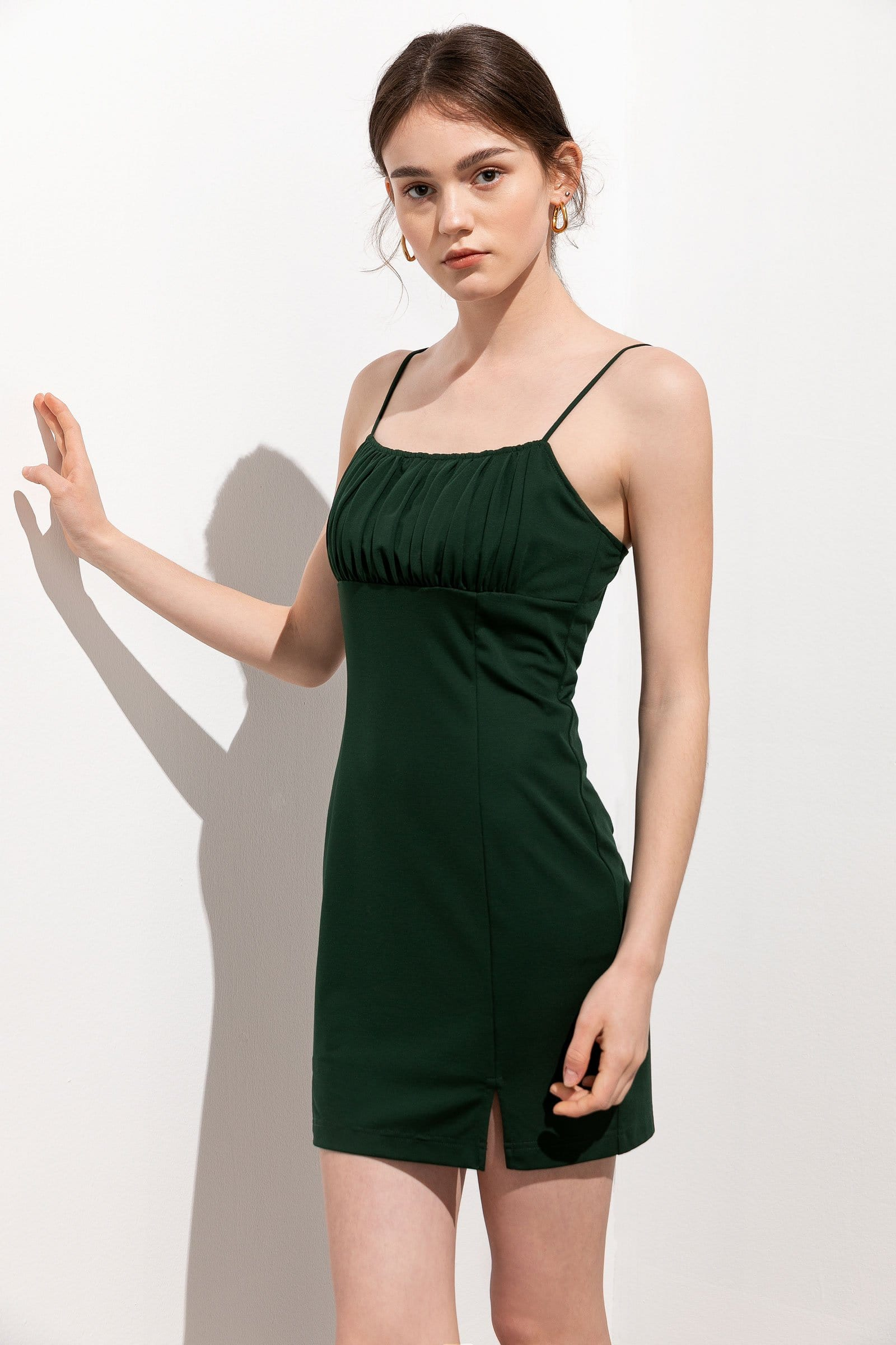 Titania Green Babydoll Mini Dress