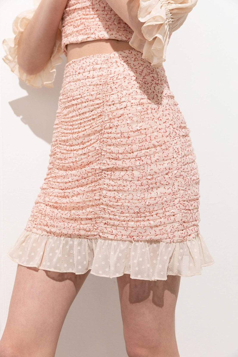 Poppy Dainty Ruffle Hem Mini Skirt