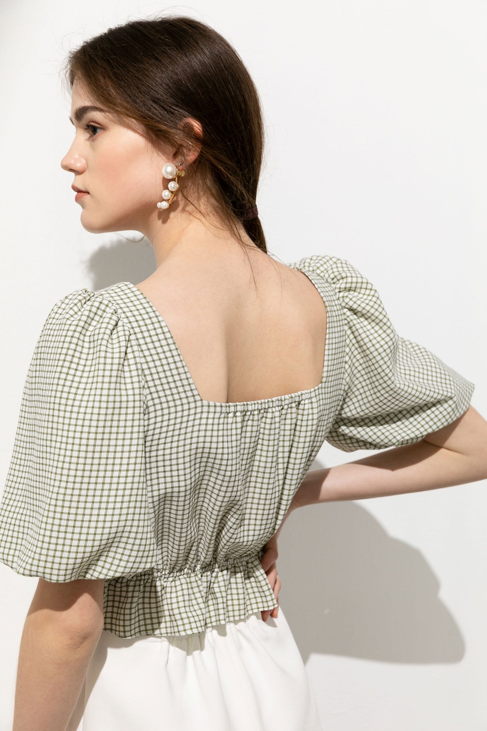 Giselle Gingham Crop Top