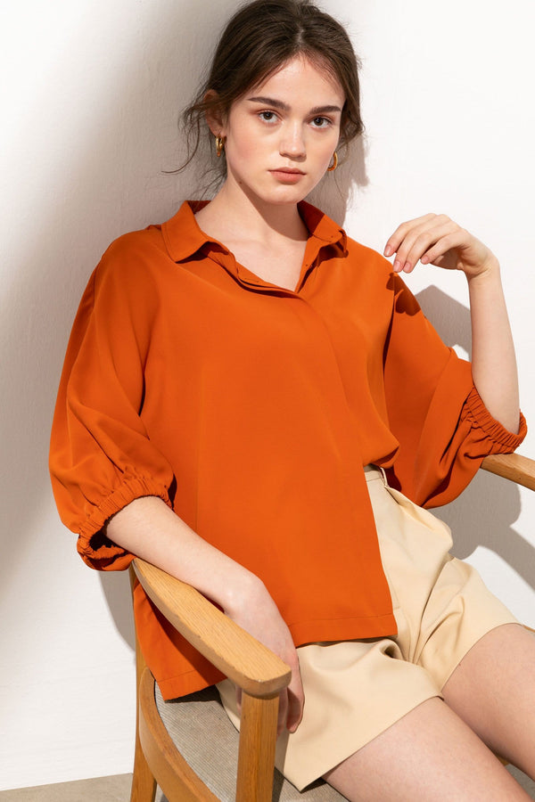 Clementine Hidden Button Blouse
