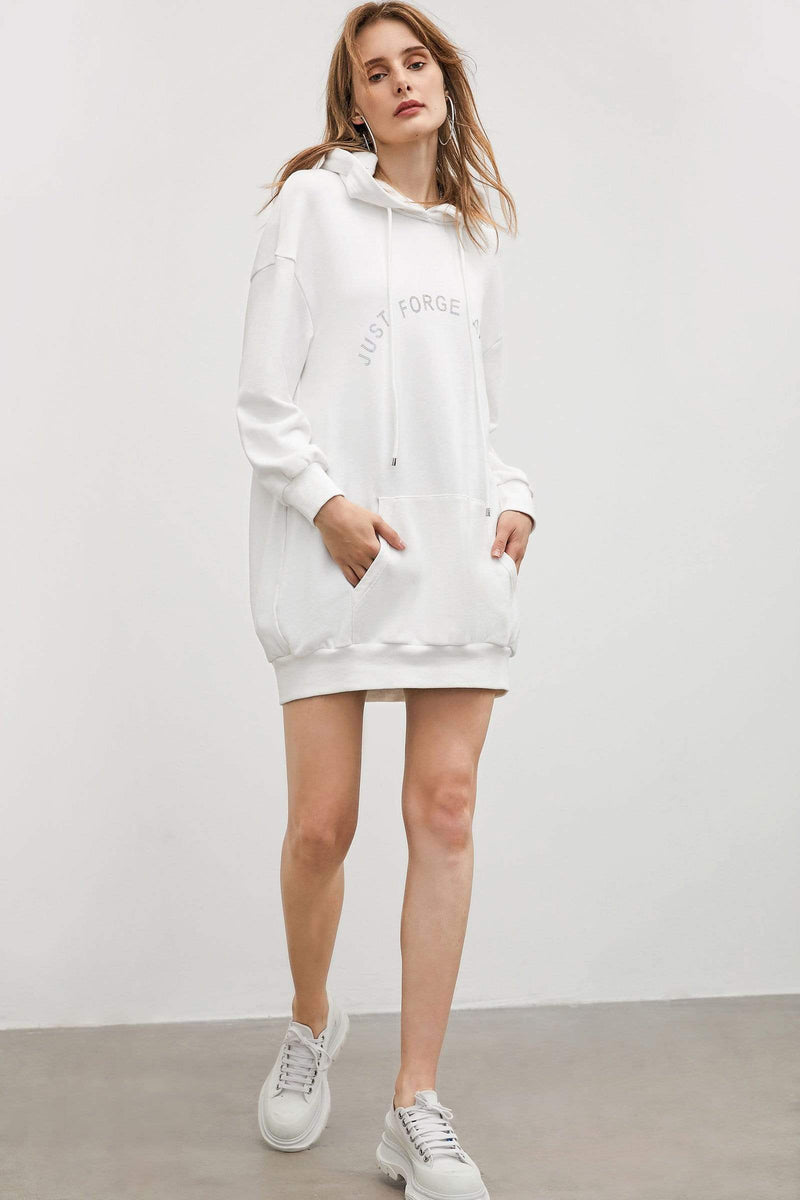 Koala White Hoodie Dress