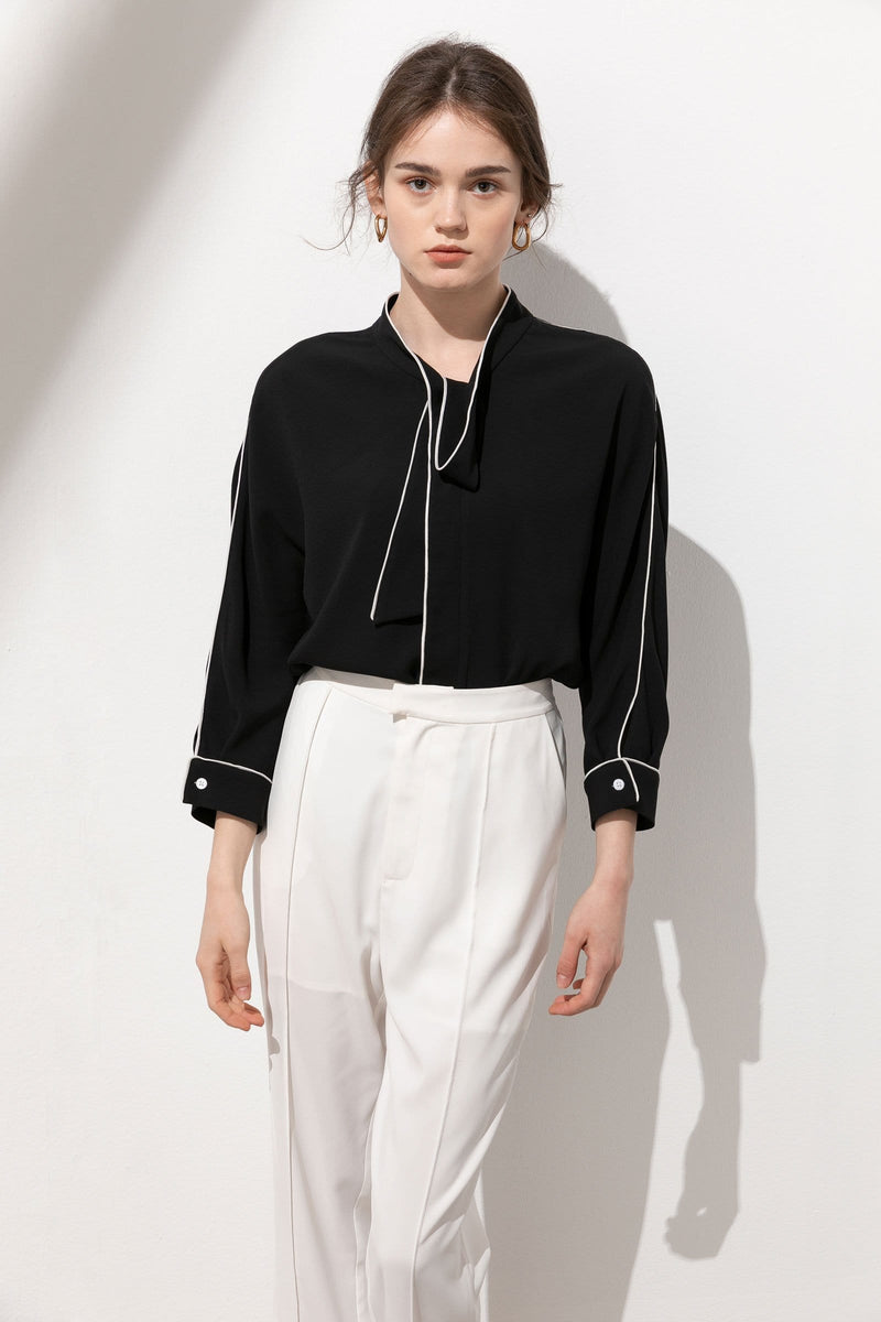 Bolt Black Contrast Top