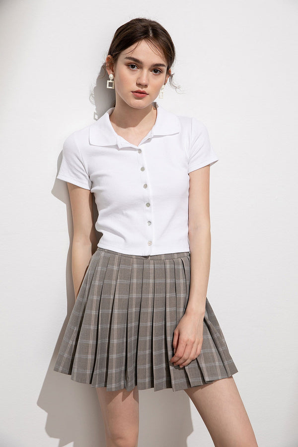 Denoire Checkered School Girl Skirt