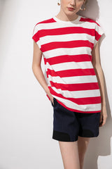 Willow Red Striped Muscle Tank