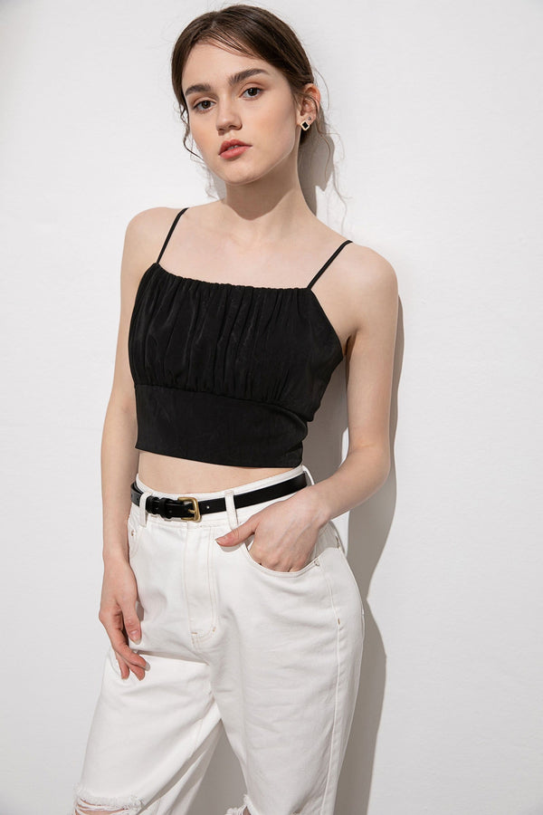 Ivy Black Sleeveless Top