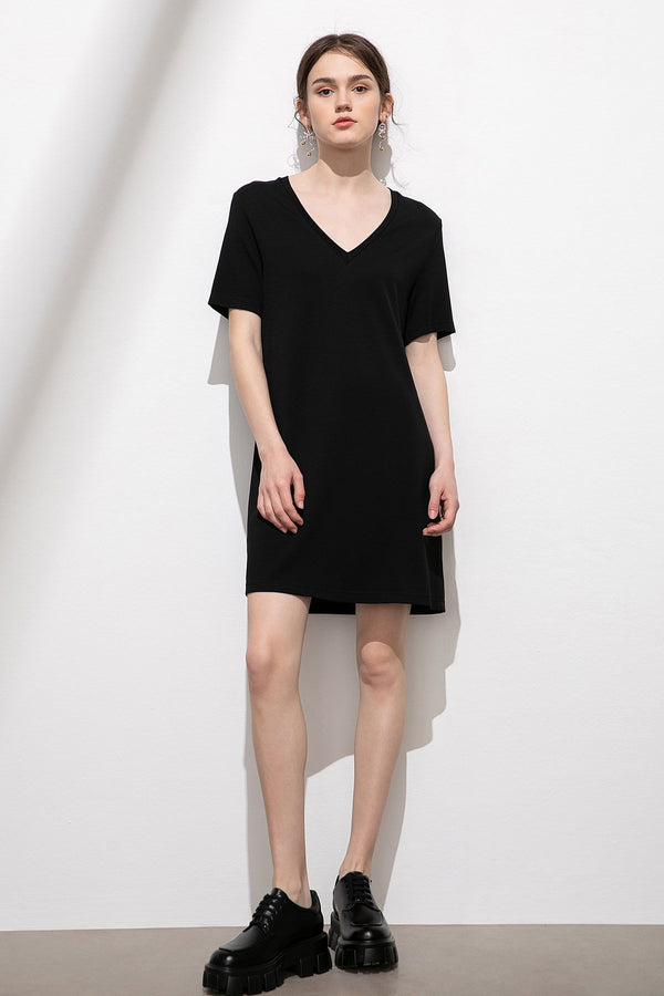 Essential Black T-Shirt Dress