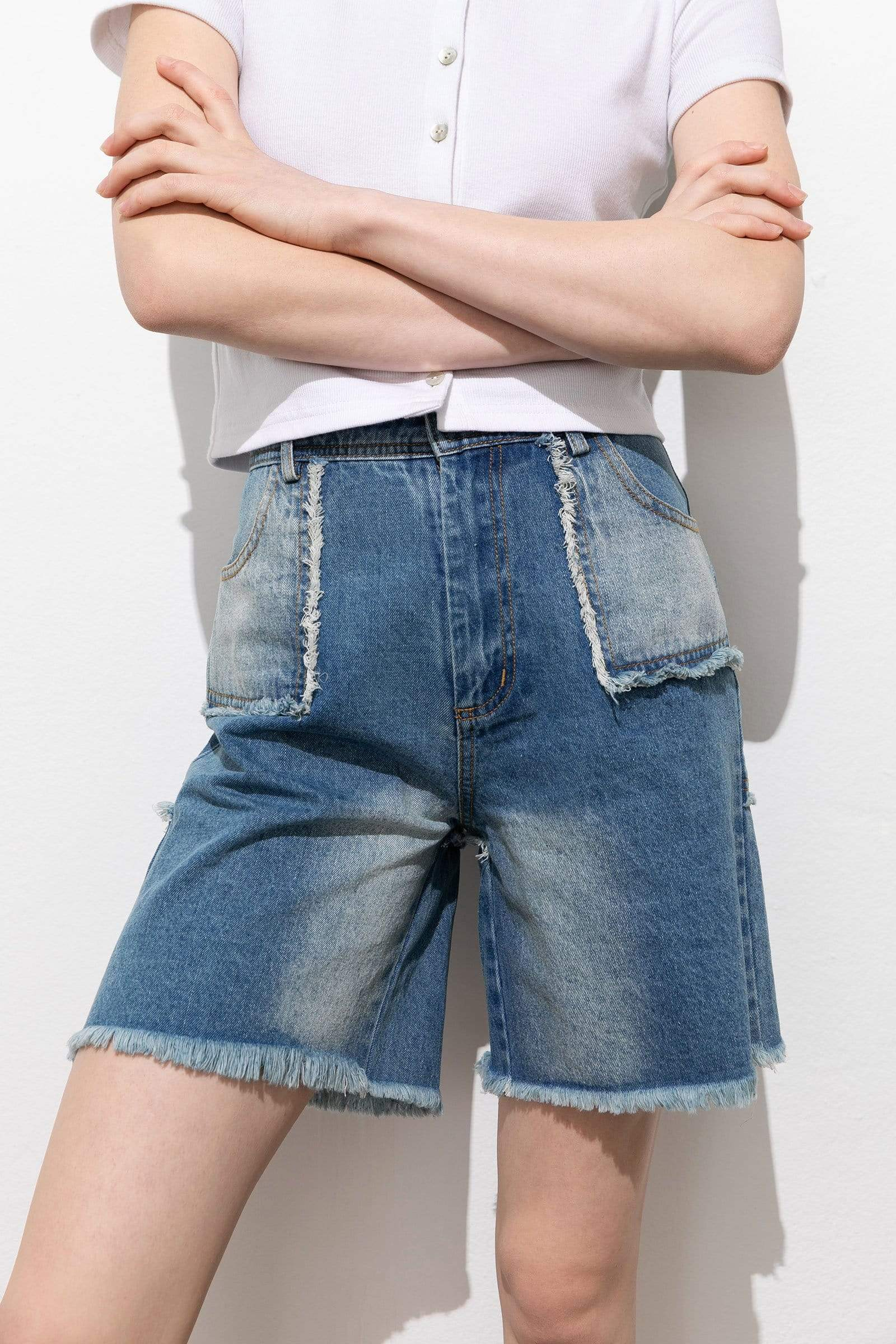 Frays for Days Denim Shorts
