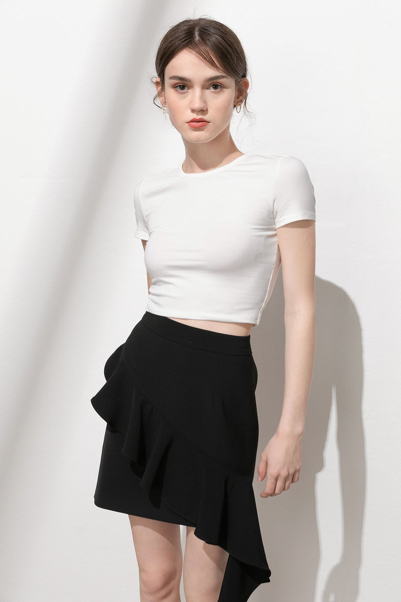 Essential White Crop Tee