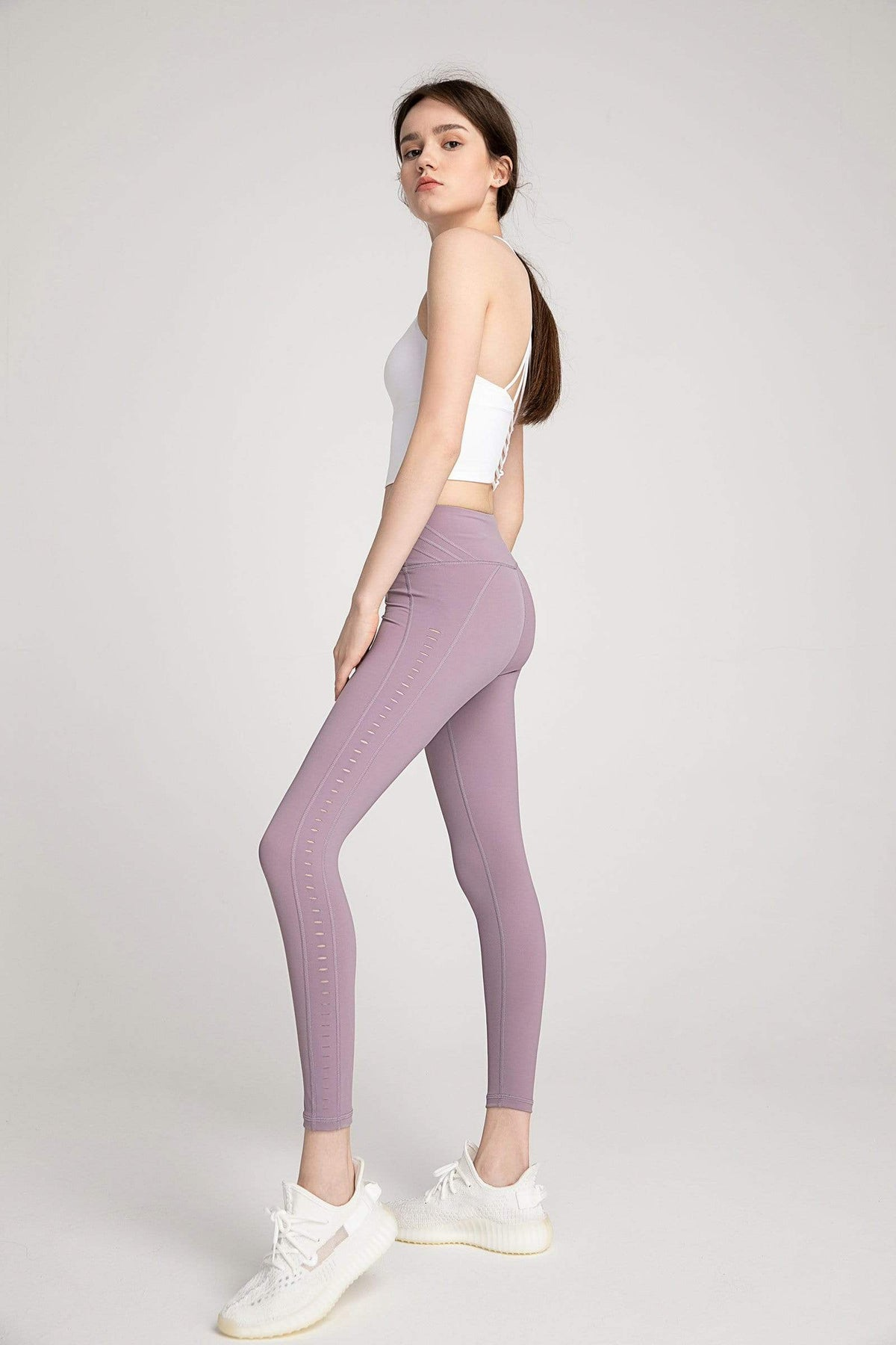 Honeysuckle Lavender High-Waist Side Panel Legging