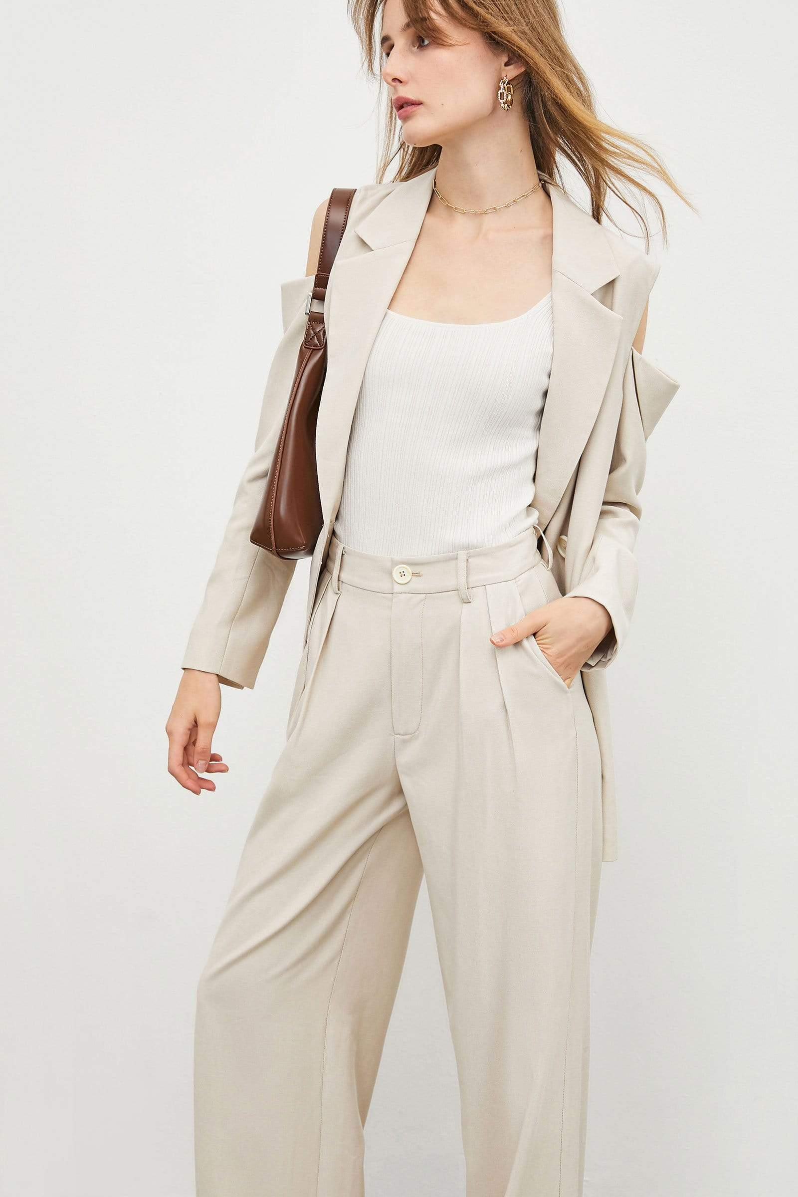 Business Essential Beige Slacks