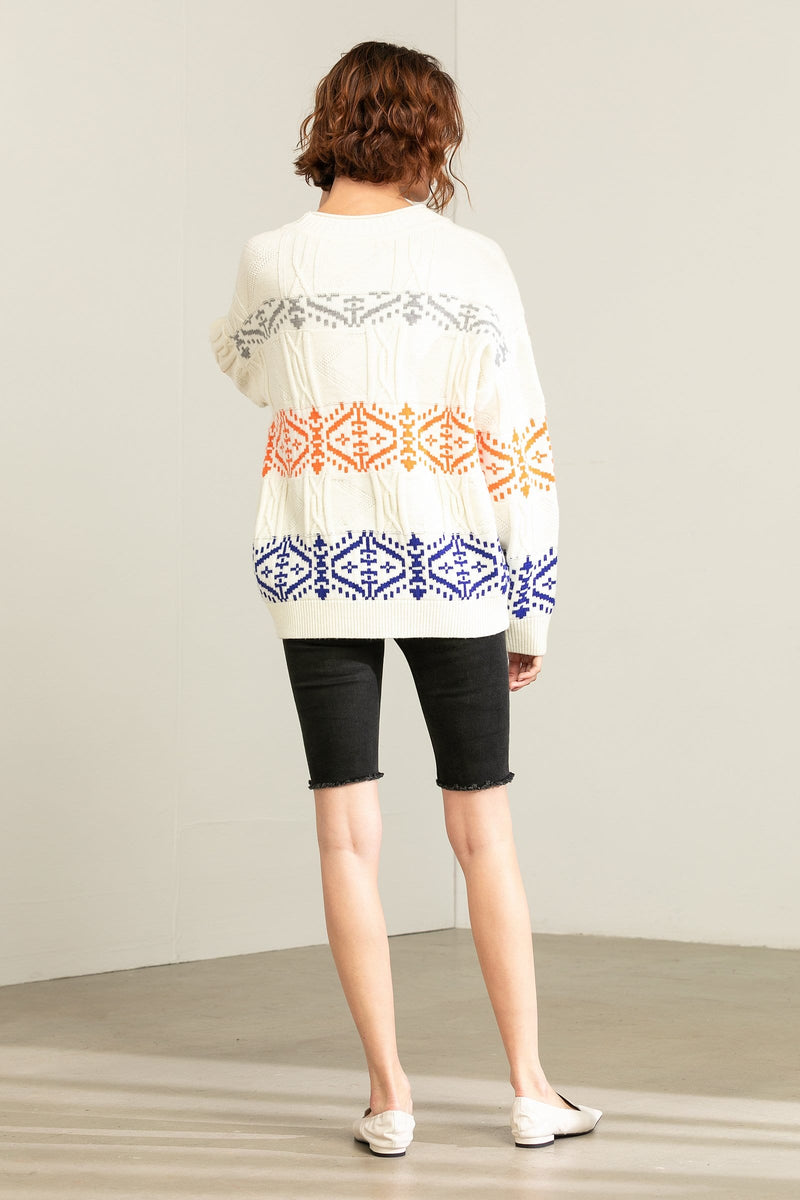 Lima Oversize White Sweater