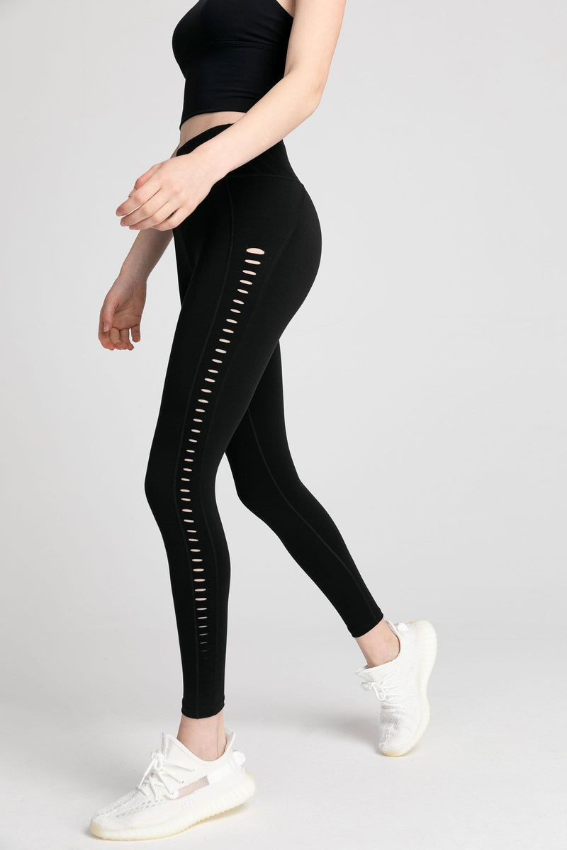 Carbon Black High-Waist Side Panel Legging